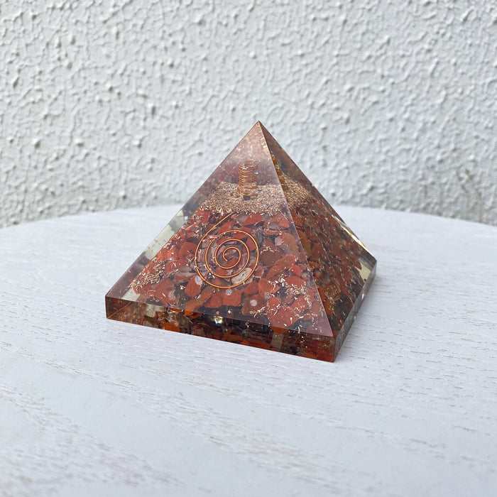 Orgonite Pyramid -Red Jasper