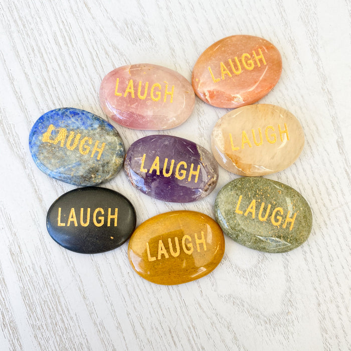 Affirmation Stone Laugh  1pc