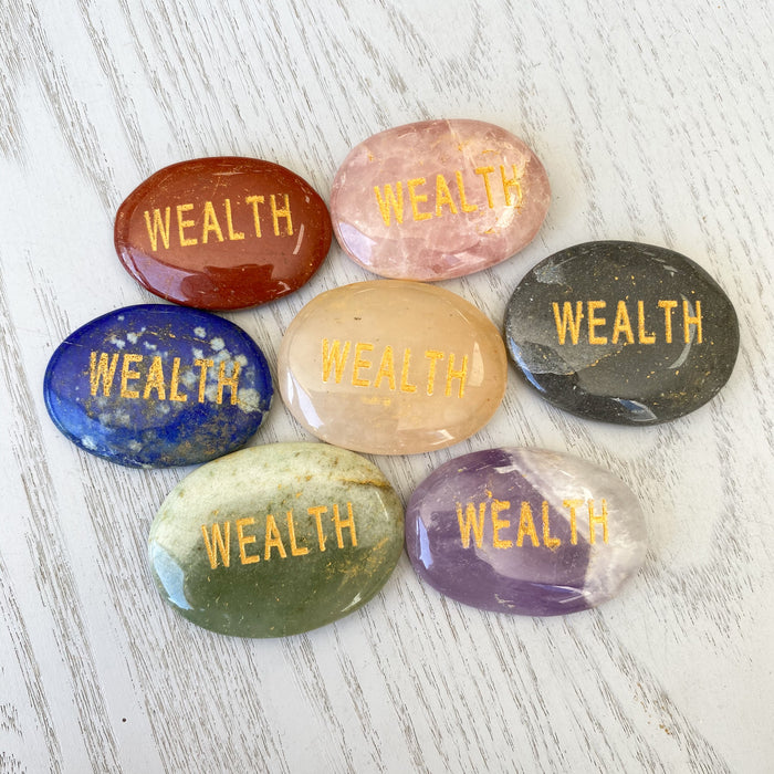 Affirmation Stone Wealth 1pc