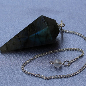 Labradorite Faceted Pendulum