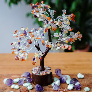 Mixed Crystal Tree - Medium Brown