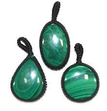 Malachite Thread Pendant - 1pc