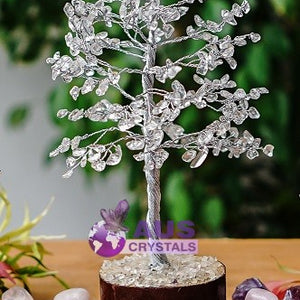 Clear Quartz Tree - Medium Silver