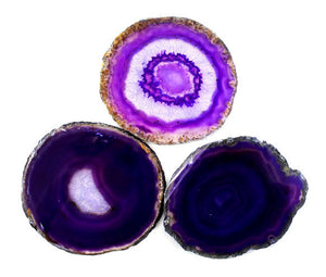 Agate Slice Purple Medium 1pc