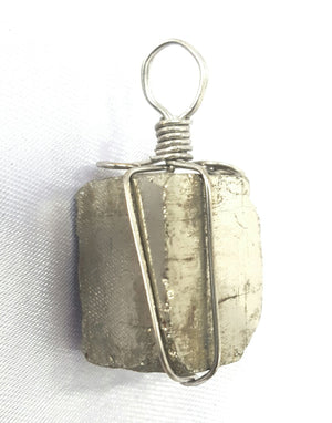 Pyrite wire wrapped Pendant