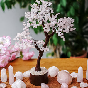 Rose Quartz Tree - Large