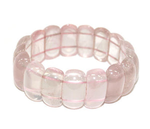Rose Quartz Rounded Bead Bracelet