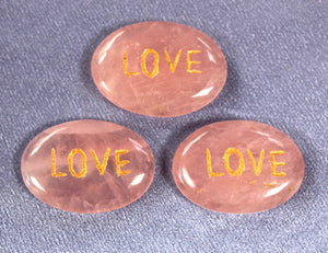 Rose Quartz Affirmation - Love 1pc