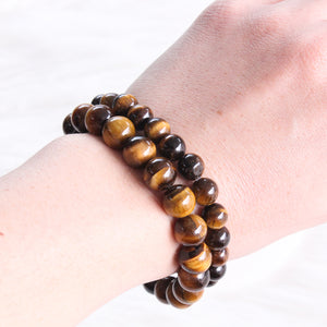 Tigers Eye Bead bracelet 10mm