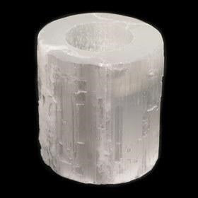Selenite Natural Candle Holder