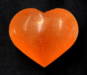 Selenite Heart Small Orange