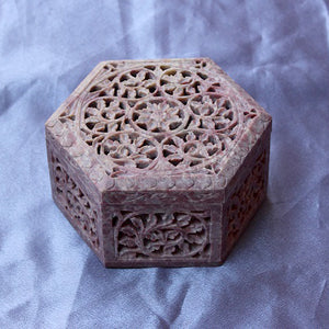 Soapstone Hexagonal Box Small