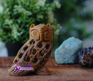 Soapstone Owl Side Face