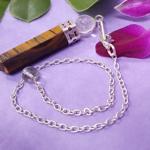 Tigers Eye Ball Point Pendulum