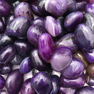Purple Agate Tumbled Stones