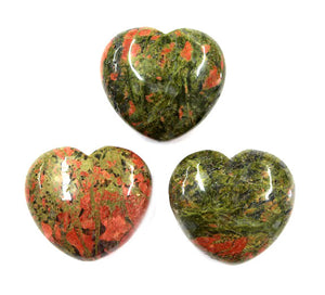 Unakite Heart 1pc