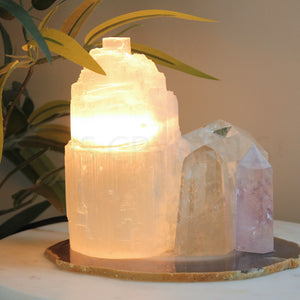 Selenite Lamp Mini - Warm Light