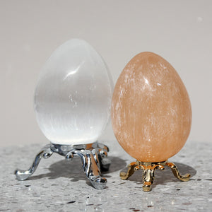 Orange Selenite Egg