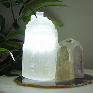 Selenite Lamp 20-25cm - Cool LED Light