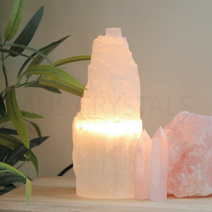 Selenite Lamp 20-25cm - Warm Light