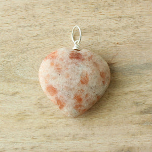 Sunstone - Heart Pendant