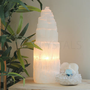 Selenite Lamp Medium - Warm Light