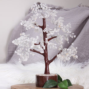 Clear Quartz Tree XL Brown