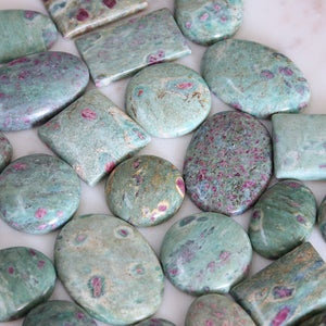 Ruby Fuchsite Cabochon 1pc Small Round