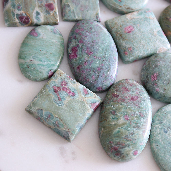 Ruby Fuchsite Cabochon 1pc Small Oval