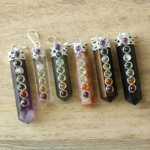 Assorted 6pc - Cap-set Chakra Points