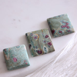 Ruby Fuchsite Cabochon 1pc Large Square