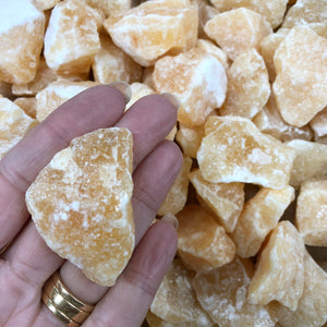 Honey Calcite Rough Small 1pc