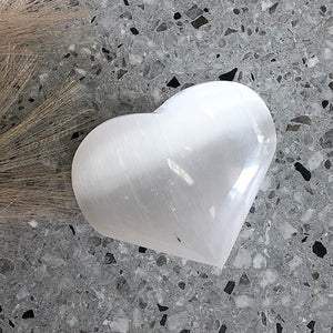 Selenite Hearts 1pc