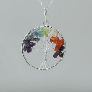 7 Chakras - Tree of Life Pendant
