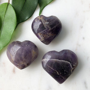 Chevron Amethyst Heart 1pc