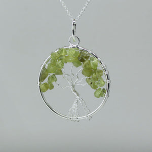 Peridot - Tree of Life Pendant