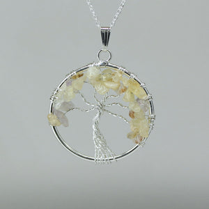 Citrine - Tree of Life Pendant