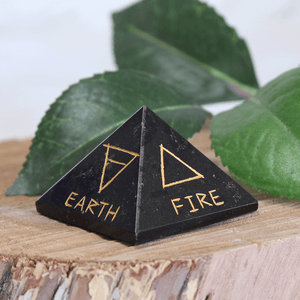 Element Symbol Pyramid - Black Tourmaline
