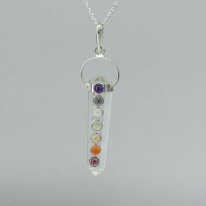 Clear Quartz - Halo-set Chakra Small