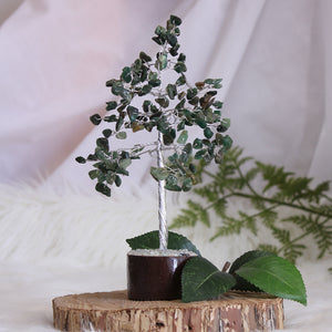 Green Aventurine Tree - Small Silver