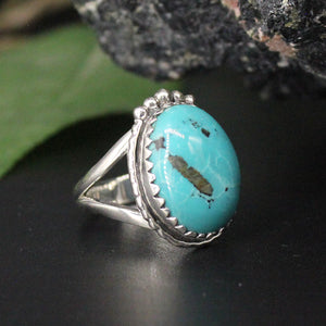 Turquoise Oval Cabochon Ring AP30 SZ7