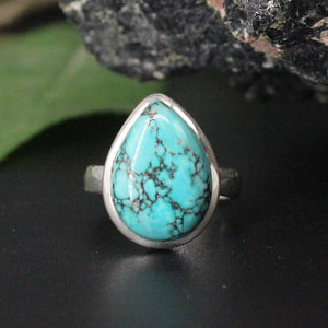Turquoise Tear Drop Cabochon Ring AP31 SZ8