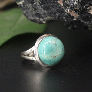 Turquoise Round Cabochon Ring AP32 SZ6