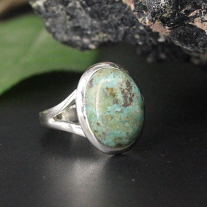 Turquoise Oval Cabochon Ring AP35 SZ9