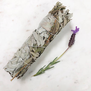 White Sage & Lavender Smudge - Large