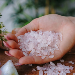 Rose Quartz Chips 1KG