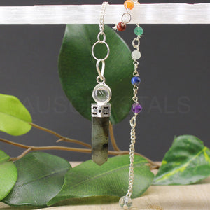 Labradorite Ball Point Chakra Pendulum