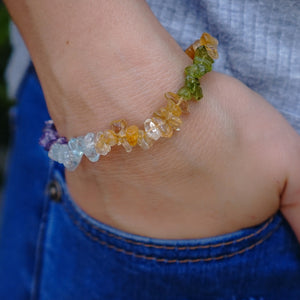 Four Crystal Chip Bracelet