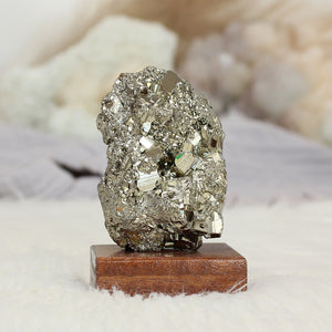 Pyrite Raw on Stand