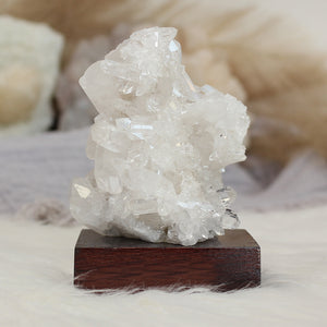 Clear Quartz Cluster on Stand